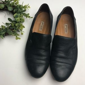 PAUL GREEN | Black Leather Loafer Shoes Vince Chic